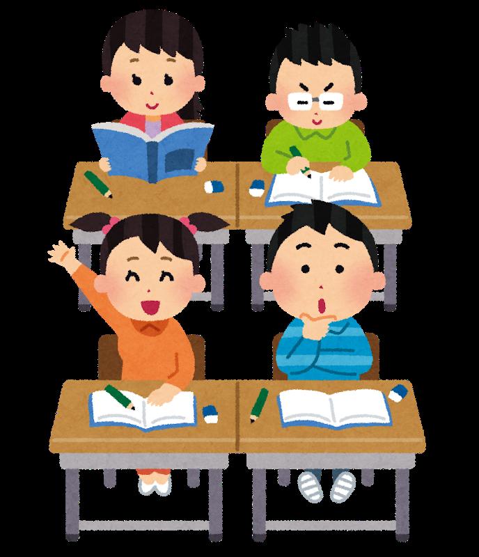 教室で机に向かう子どもたち