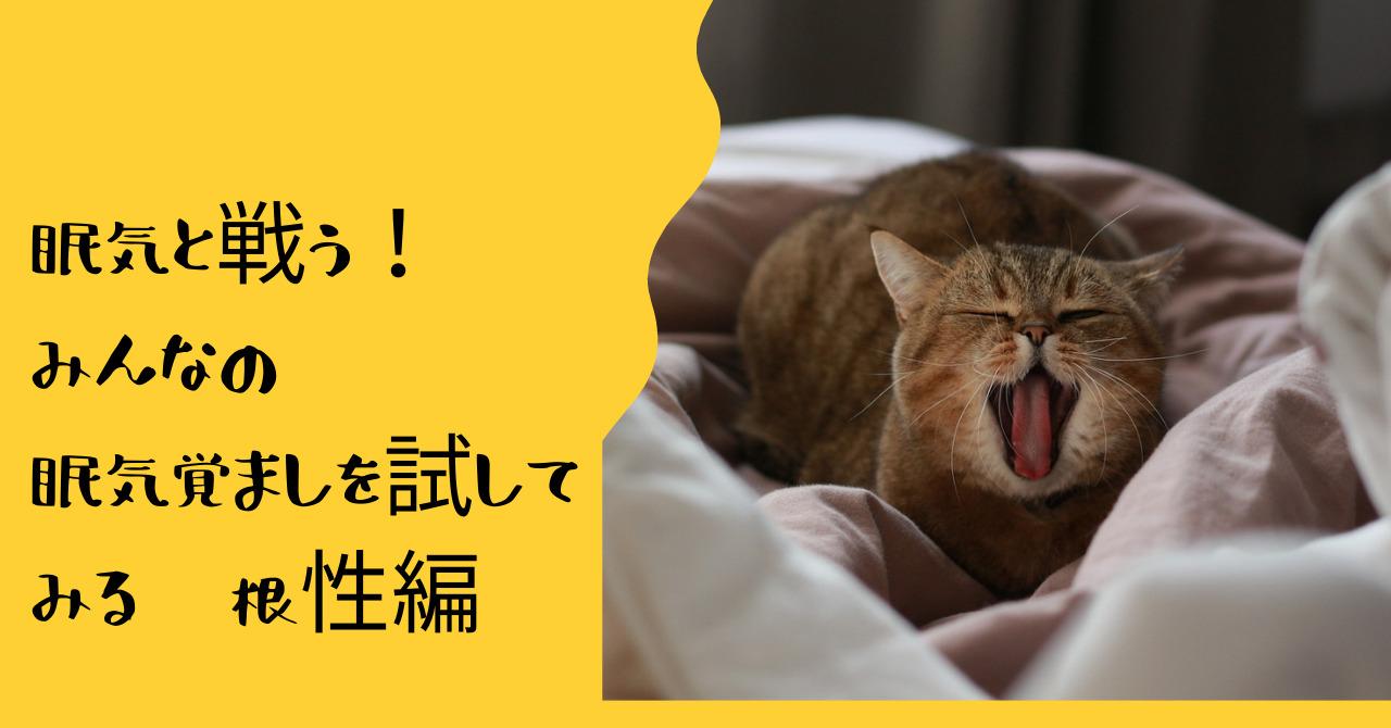あくびするトラ猫